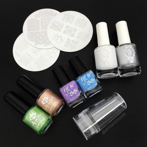 Australian indie nail stamping polish and nail stamping plates - Polish and Paws Blog