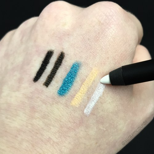Eye Of Horus Cosmetics Goddess Pencil in Smokey Black, Nubian Brown, Teal Malachite, Sahara Nude and Selenite White