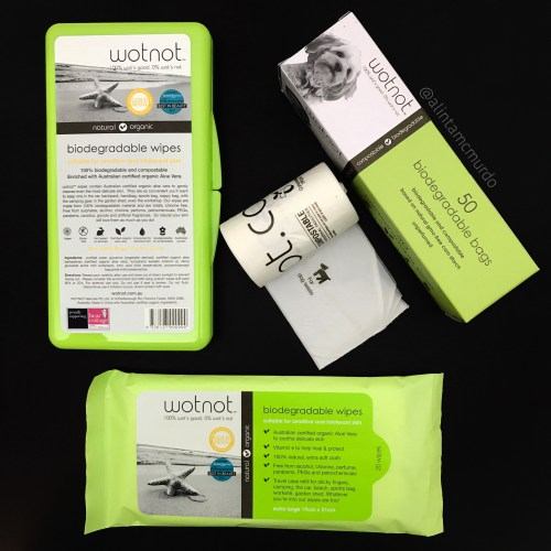 Wotnot biodegradable dog poop bags and biodegradable pet wipes