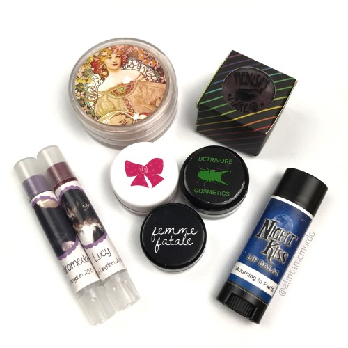 Guest post on Femme Fatale Cosmetics blog reviewing indie cosmetics