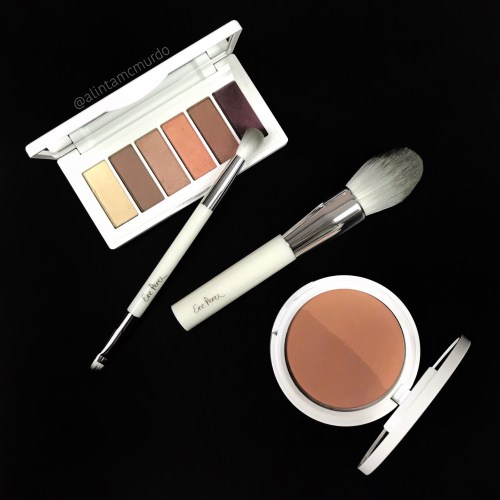 Ere Perez eyeshadow palette, bronzer/blush and brushes