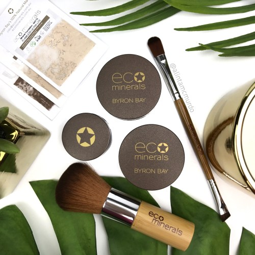 Eco Minerals Perfection Mineral Foundation, White Light Mineral Illuminate and Mineral Eye Color