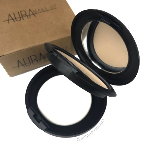 Aura Makeup Evolved Pressed Pressed Mineral Foundation with included sponge