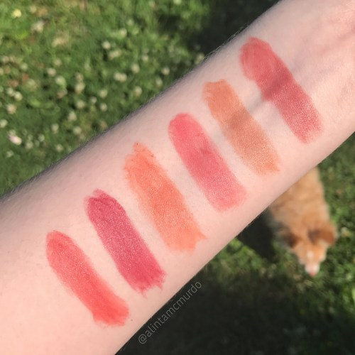 Eye Of Horus Bio Lipsticks in Inanna Honey, Artemis Nude, Venus Pink, Aurora Peach, Cleo Plum and Freya Rose