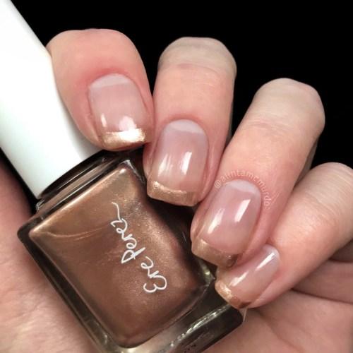 Ere Perez nail polish in Waltz with metallic french nail art