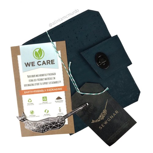 SewGnar eco-friendly cork passport holder