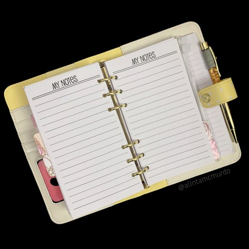 Nati Planning Personal Planner Notes Inserts - polish and paws blog