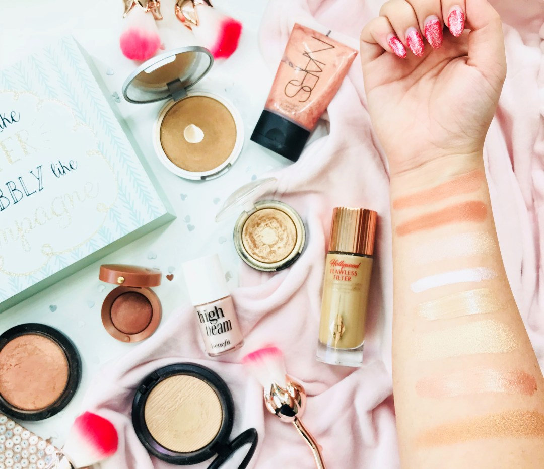 rosy glow products swatches