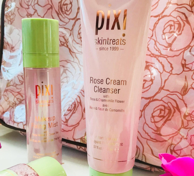 pixi beauty rose cleanser makeup mist