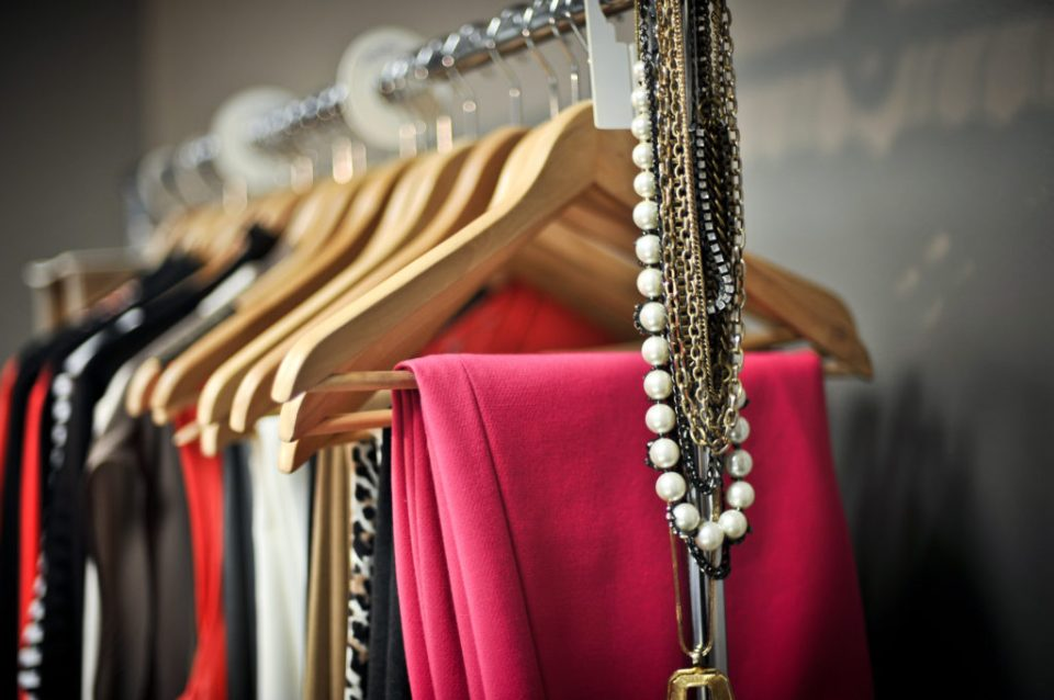 Rack of Womens Clothing