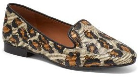 Sequin Cheetah loafer