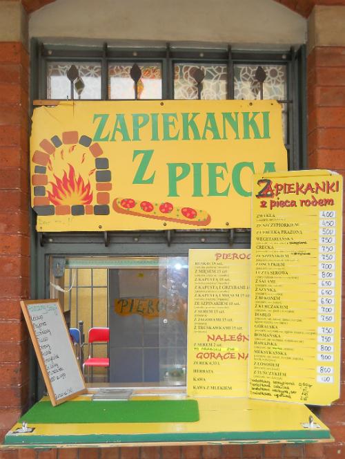 Zapiekanki shop in Krakow