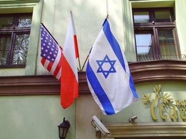 Israeli flag Krakow Poland