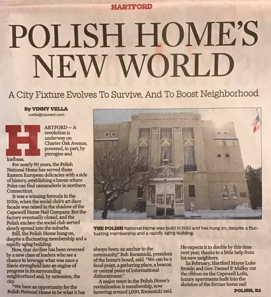 Article from Hartford Courant   Polish National Home of