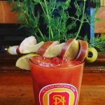 Hussar Bloody Mary starts with horseradish-infused vodka and finished with kielbasa
