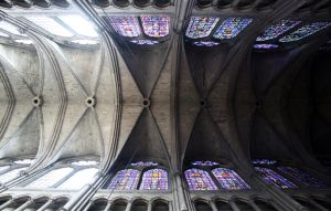 Reims, notre dame, catherdral ceiling