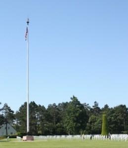 american flag omaha beach
