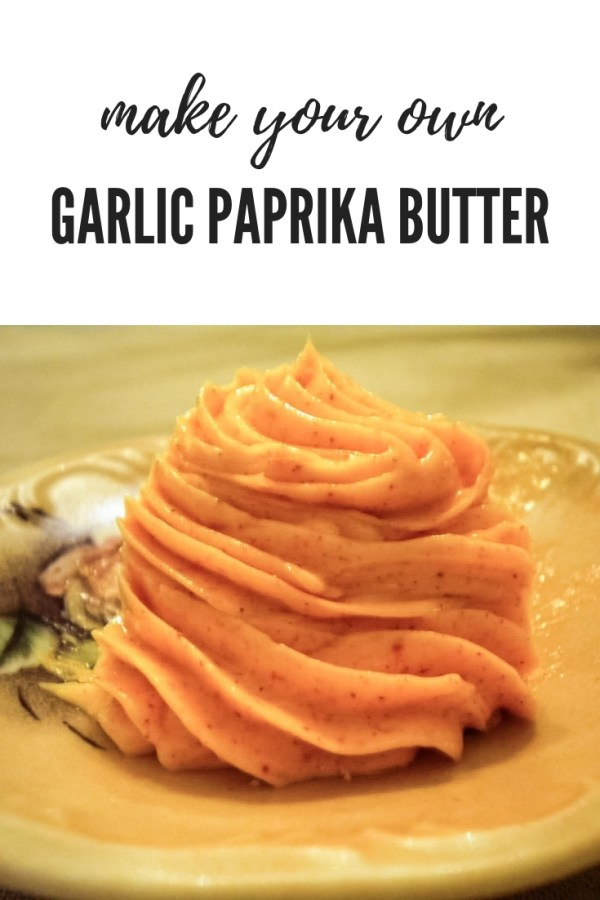 garlic parkia butter piped onto a small plate