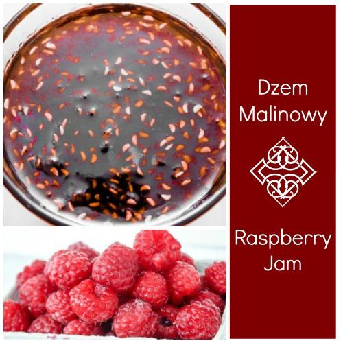 Dzem Malinowy, a delicious raspberry jam