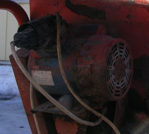 G & C indestructable electric motor on the belle cement mixer