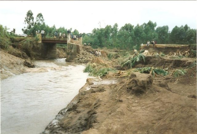 floods and damaged roads in mbale uganda after el nino rains