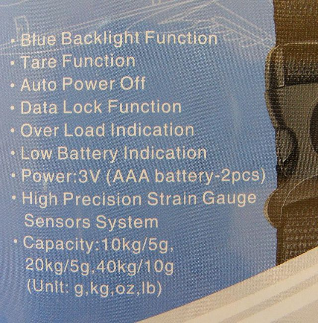 portable scales from cabin max specifications on the box