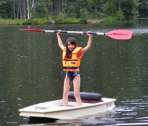 learning to paddle a plywood boat called mouse