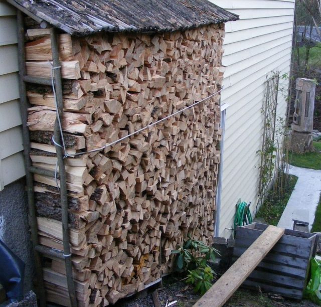 Turning the neighbours unwanted  tree into firewood