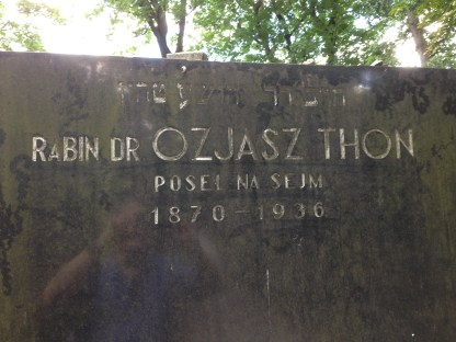 photo Rabbi Yehoshua -Ozjasz Thon grave