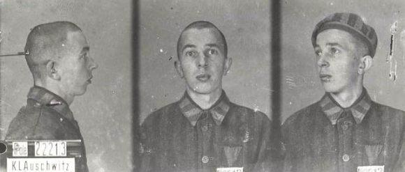 Michael Preisler in Auschwitz as prisoner