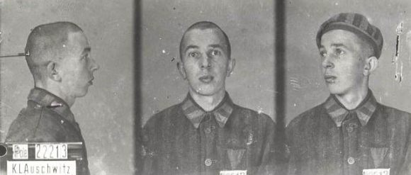 Michael Preisler in Auschwitz as prisoner
