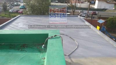 Rifacimento dell'impermeabilizzazione terrazzi Scuola Media a Roma