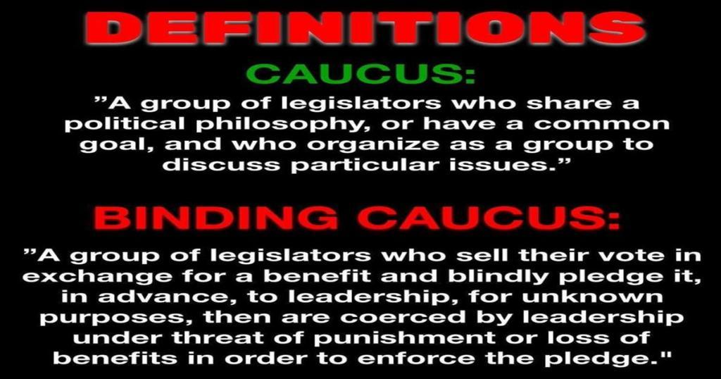 Illegal Binding Caucus Rule