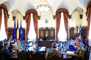 Sedinta Consiliului Suprem de Aparare a Tarii (CSAT), la Palatul Cotroceni.
