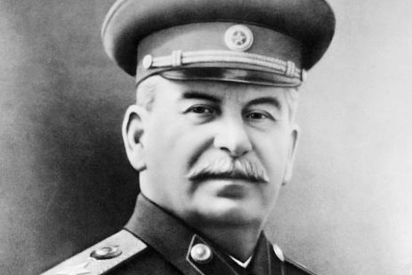 Facts about Joseph Stalin: A picture of an elderly Joseph Stalin in Soviet military dress staring into the camera