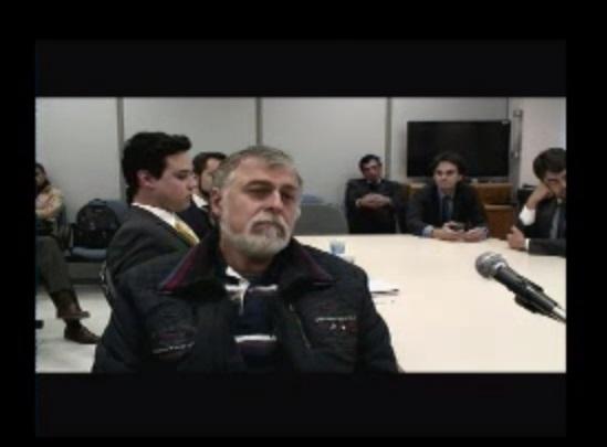 Paulo Roberto Costa falou à Justiça Federal. Foto: Reprodução