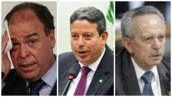 Da esquerda para a direita: Fernando Bezerra Coelho, Arthur Lira e Benedito de Lira. Fotos: Estadão e Câmara