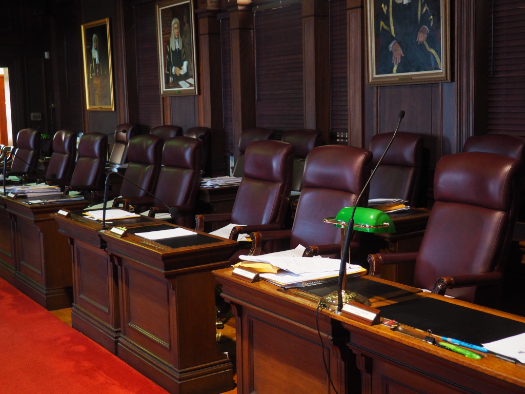 """Inside the Chamber of Bermuda's House of Assembly where laws get made and members are referred to as """"Honorable""""."""