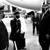 Defense Secretary Lloyd Austin Touches Down in the Philippines Sporting Face Shield