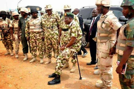 Commander in Chief Goodluck Jonathan Sits Down to Address Nigerian Troops