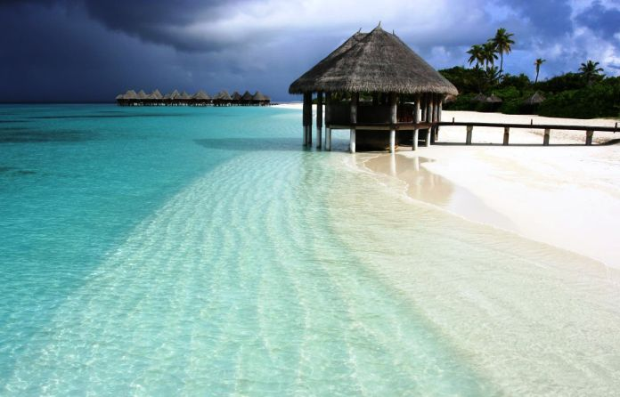 A resort in the Maldives. Limited-time offer...