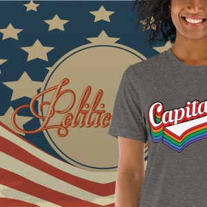Capitalist Retro Typography T-Shirt | Political T Shirts, Gifts, and Gift Ideas for Republicans and conservatives | PoliticalGift.com