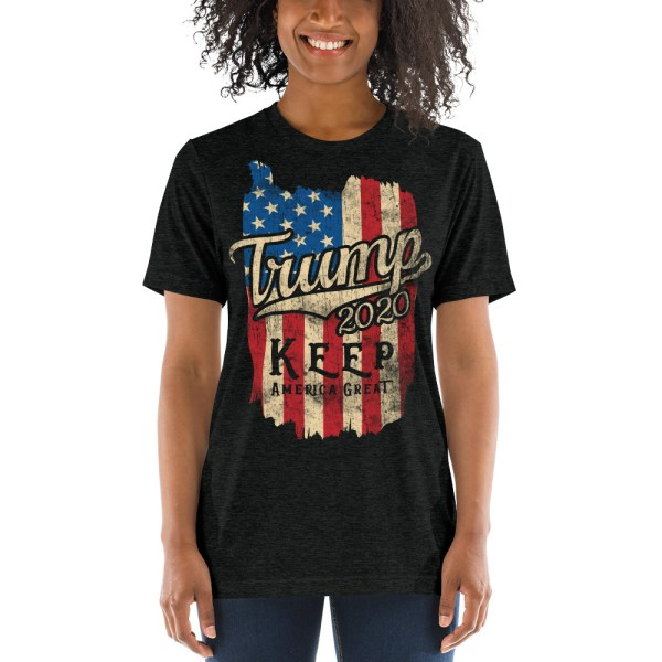 Trump 2020 Keep America Great Flag Vintage T-Shirt   Political T Shirts, Gifts, and Gift Ideas for Republicans and conservatives   PoliticalGift.com