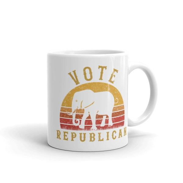 Vote Republican Coffee Mug | Original design, Retro vintage sunset style