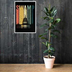 """Drain the Swamp (Congress) Retro FRAMED Poster 