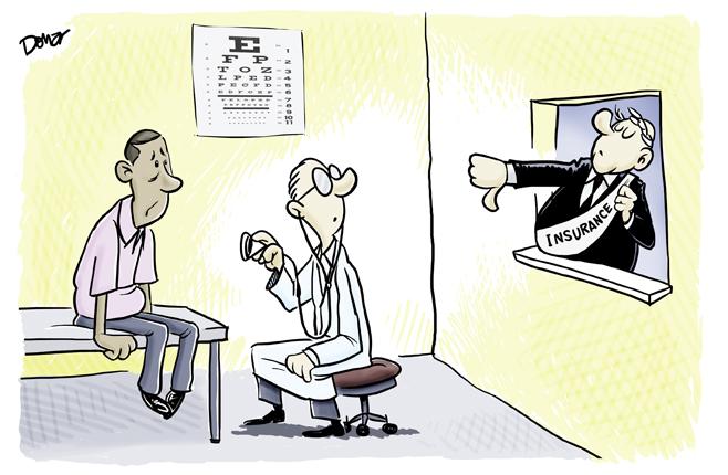health insurance cartoon
