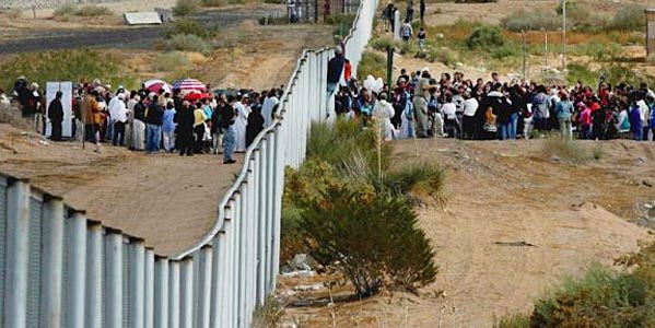 Image result for images of illegals crossing the border
