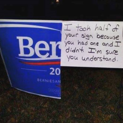 bernie sanders-take-half-your-sign