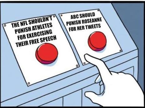 NFL-shouldnt-punish-athletes-free-speech-abc-should-punish-roseanne buttons