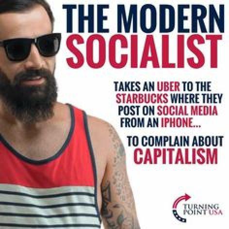 modern-socialist uber iphone starbucks against capitalism